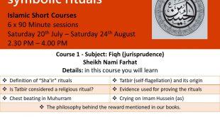 40 Days to Muharrum – The Husseini symbolic rituals – 6 Session – Islamic Course