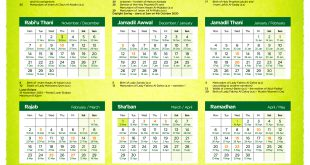 1442 Hijri – Islamic Calendar – Download